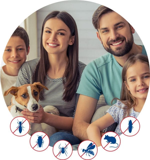 family feature with pests